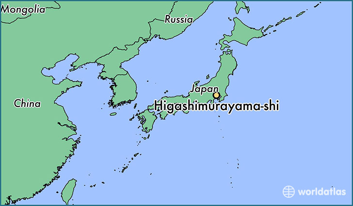 map showing the location of Higashimurayama-shi