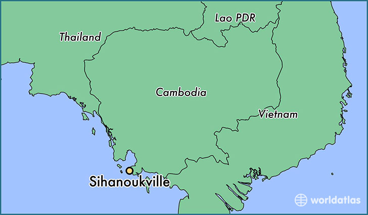 map showing the location of Sihanoukville