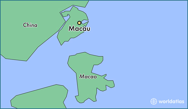map showing the location of Macau