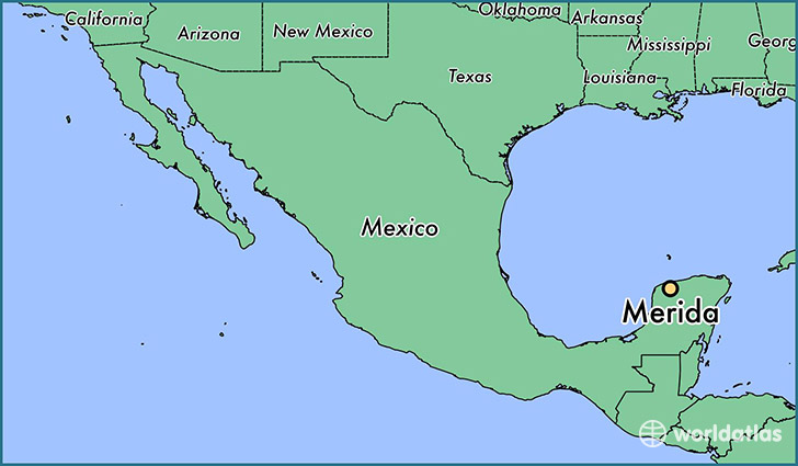 Where Is Merida Mexico Merida Yucatan Map Worldatlas Com