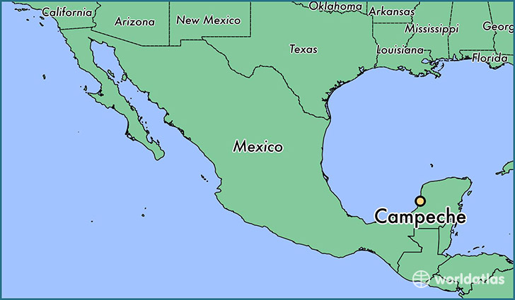 map showing the location of Campeche