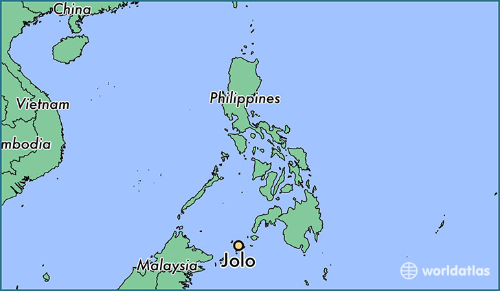map showing the location of Jolo
