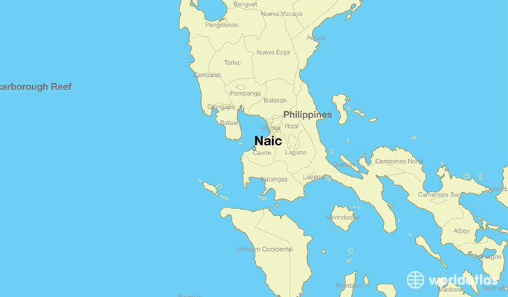 map showing the location of Naic