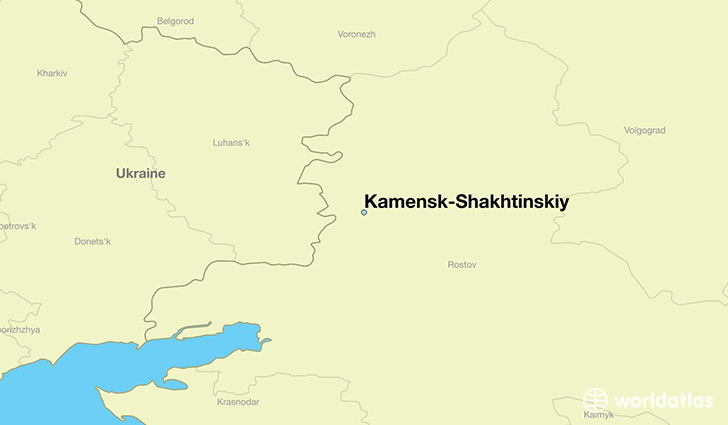 map showing the location of Kamensk-Shakhtinskiy