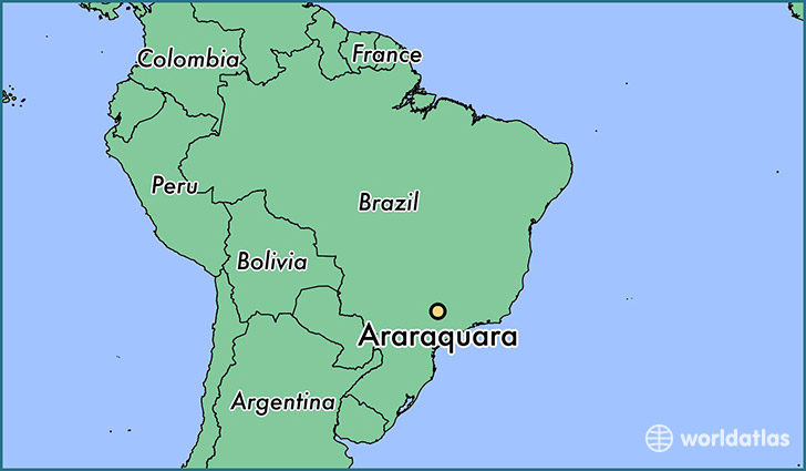 map showing the location of Araraquara