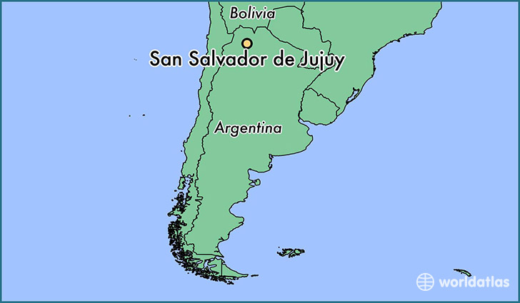map showing the location of San Salvador de Jujuy