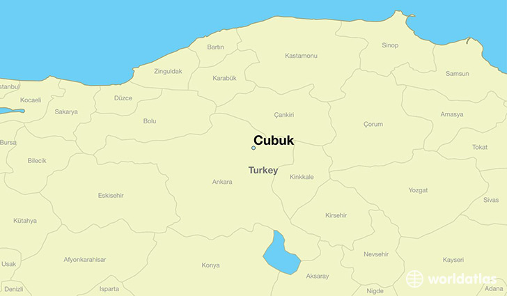 map showing the location of Cubuk
