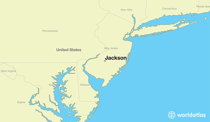 Where is Jackson NJ Jackson New Jersey Map WorldAtlascom
