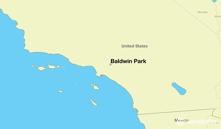 map showing the location of Baldwin Park