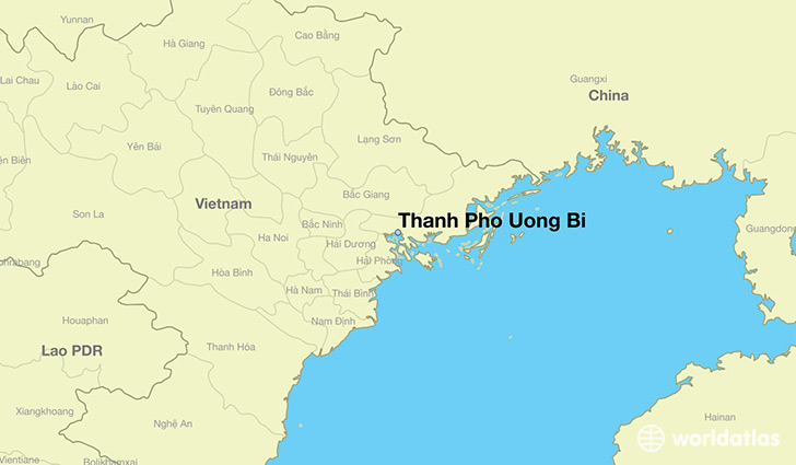 map showing the location of Thanh Pho Uong Bi