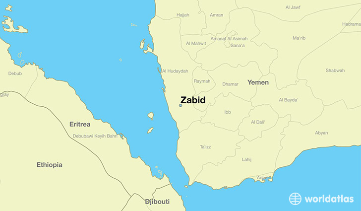 Where is Zabid Yemen Zabid Muhafazat al Hudaydah Map