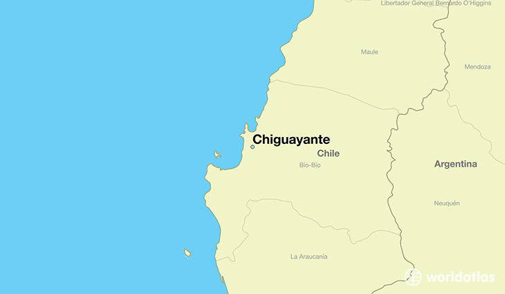 map showing the location of Chiguayante
