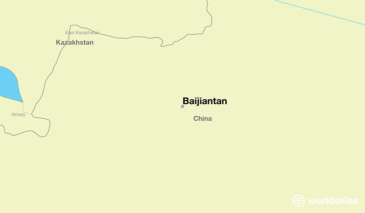 map showing the location of Baijiantan