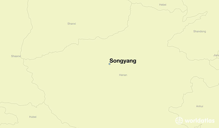 map showing the location of Songyang