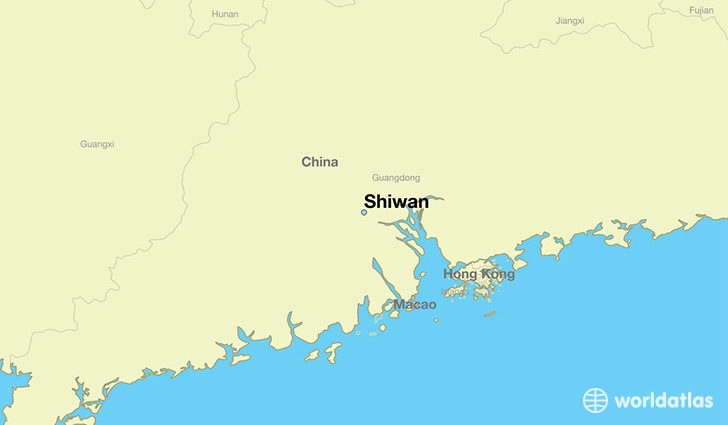 map showing the location of Shiwan