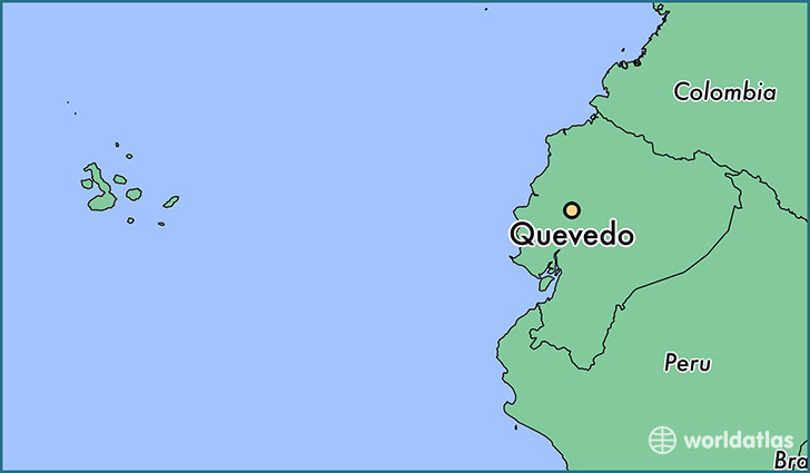 map showing the location of Quevedo