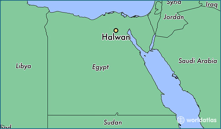 Where is Halwan Egypt Halwan Muhafazat al Qahirah Map