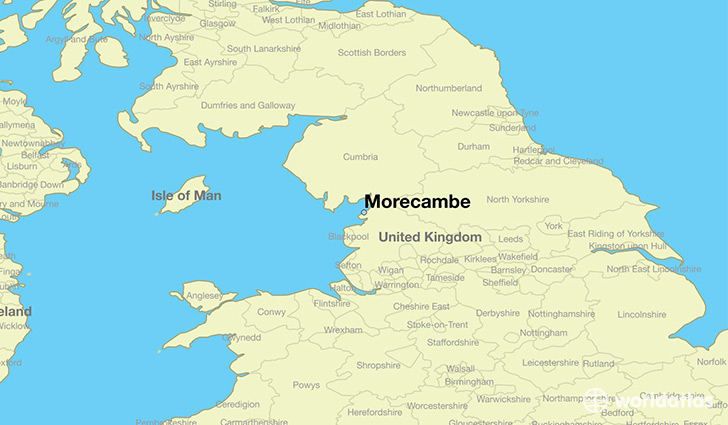 map showing the location of Morecambe