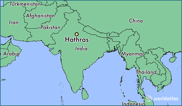 map showing the location of Hathras