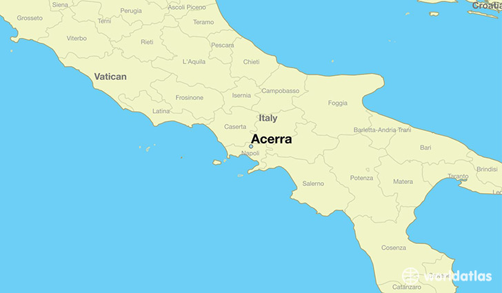 map showing the location of Acerra