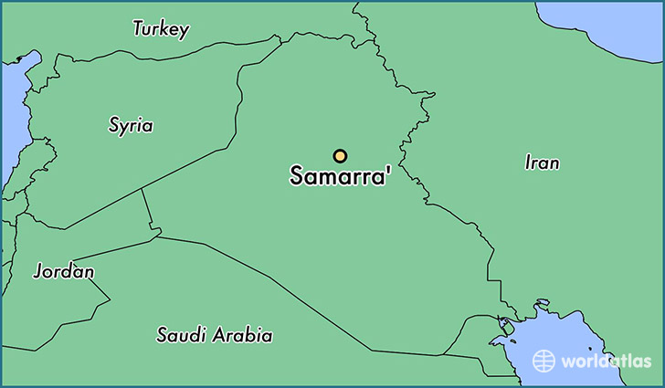 map showing the location of Samarra'