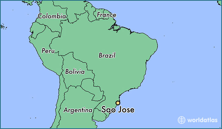 map showing the location of Sao Jose