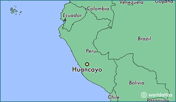 Huancayo Peru Map.Where Is Huancayo Peru Huancayo Junin Map Worldatlas Com