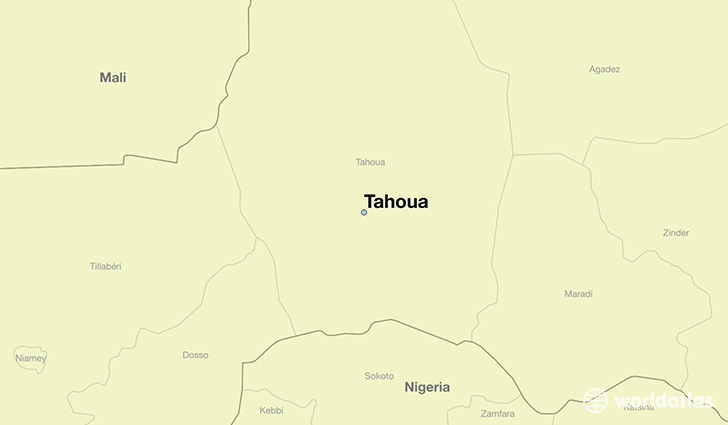 map showing the location of Tahoua