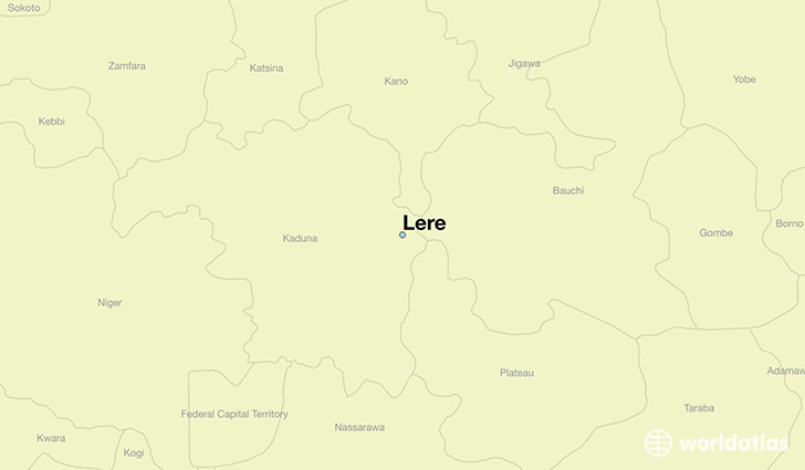 map showing the location of Lere