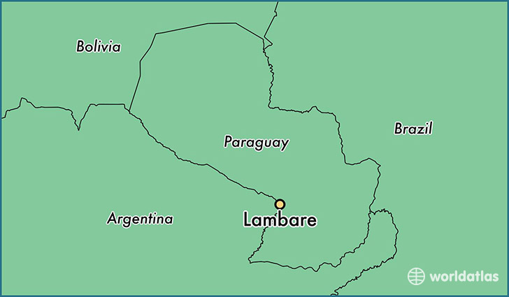 Where is Lambare Paraguay Lambare Central Map WorldAtlascom