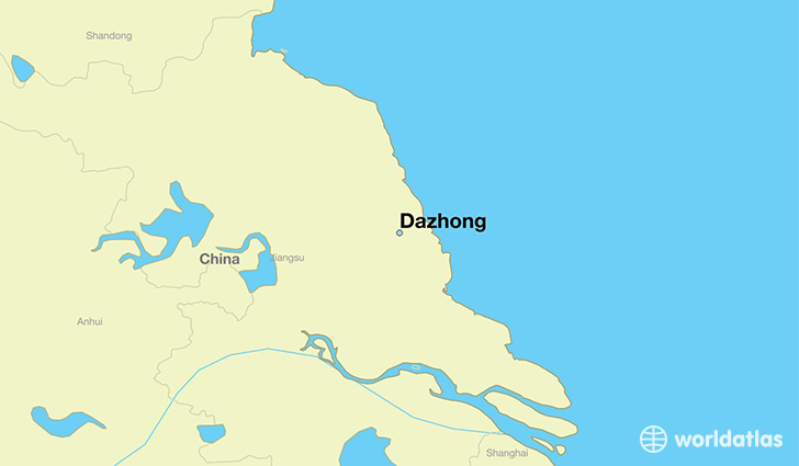 map showing the location of Dazhong