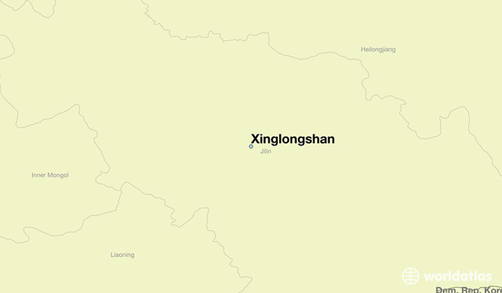 map showing the location of Xinglongshan