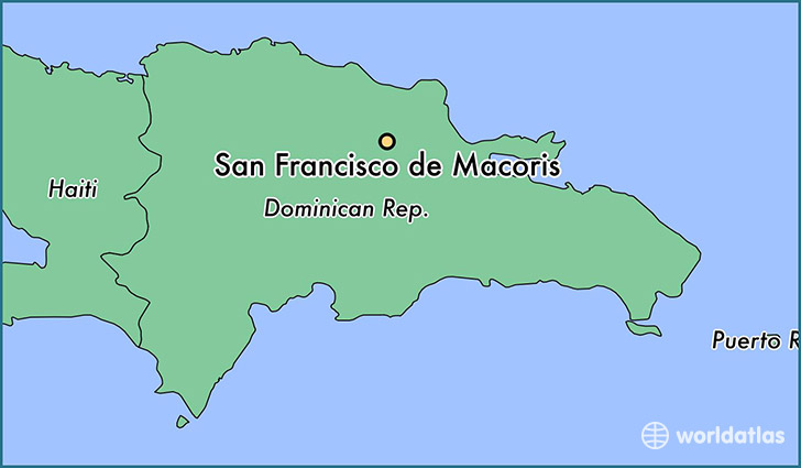 map showing the location of San Francisco de Macoris