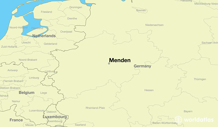 map showing the location of Menden