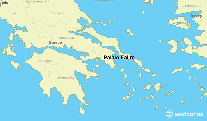 map showing the location of Palaio Faliro