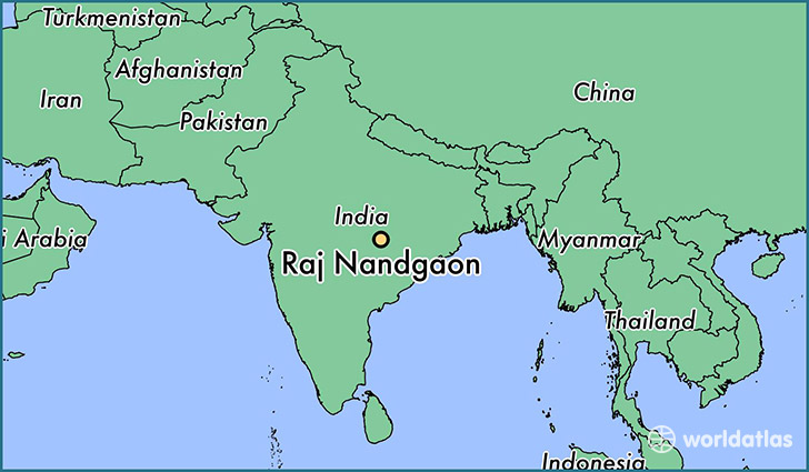 map showing the location of Raj Nandgaon