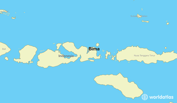 Where is bima indonesia bima west nusa tenggara map map showing the location of bima gumiabroncs Image collections