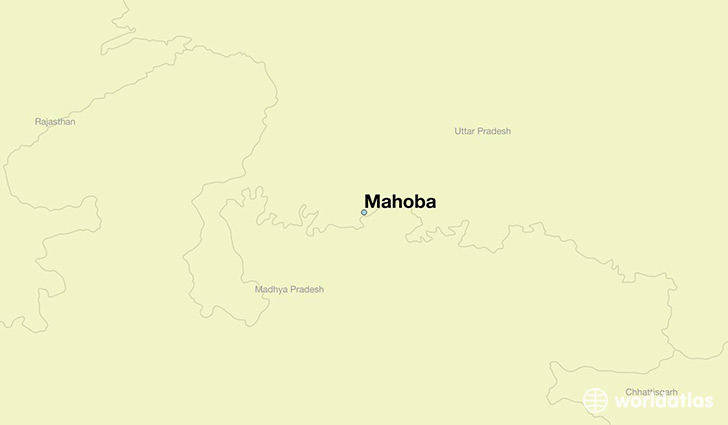 map showing the location of Mahoba