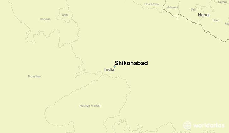 map showing the location of Shikohabad