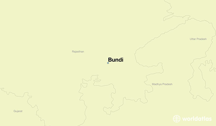 map showing the location of Bundi