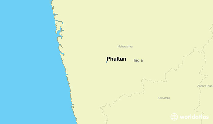 map showing the location of Phaltan