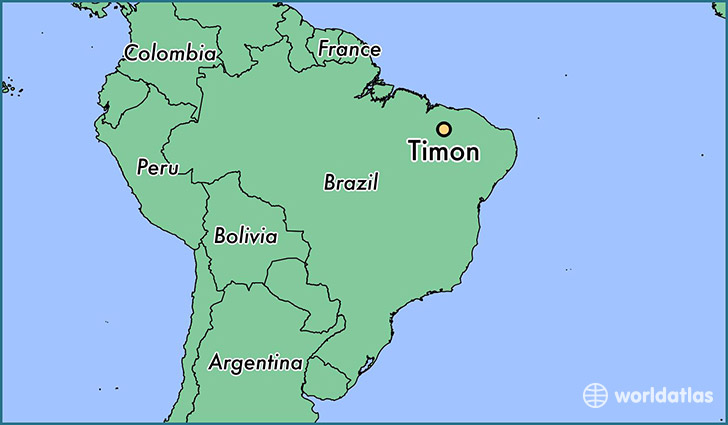 map showing the location of Timon
