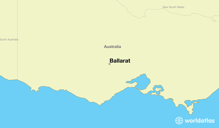 map showing the location of Ballarat