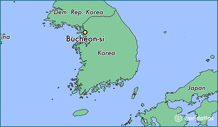 map showing the location of Bucheon-si
