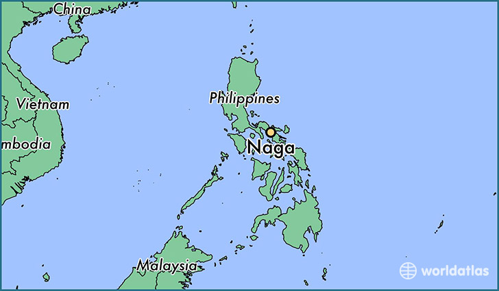 map showing the location of Naga