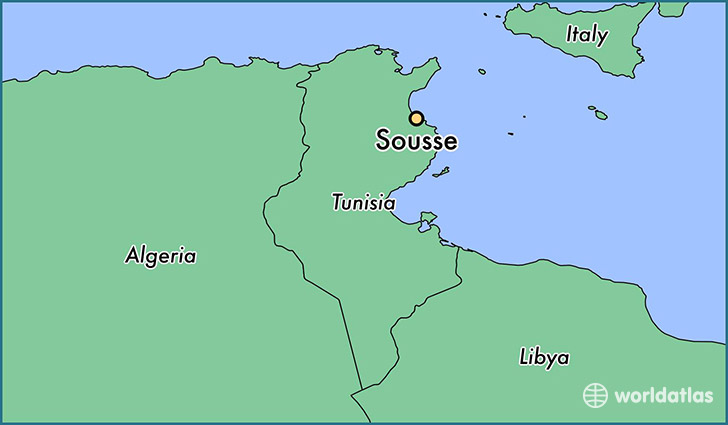 map showing the location of Sousse