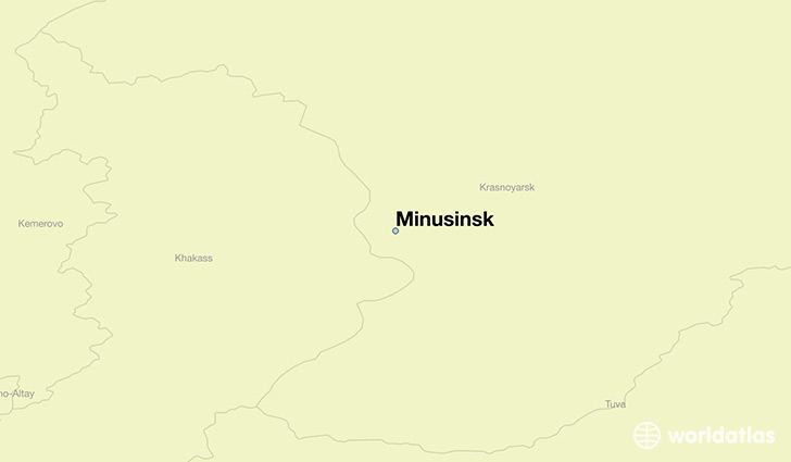 map showing the location of Minusinsk