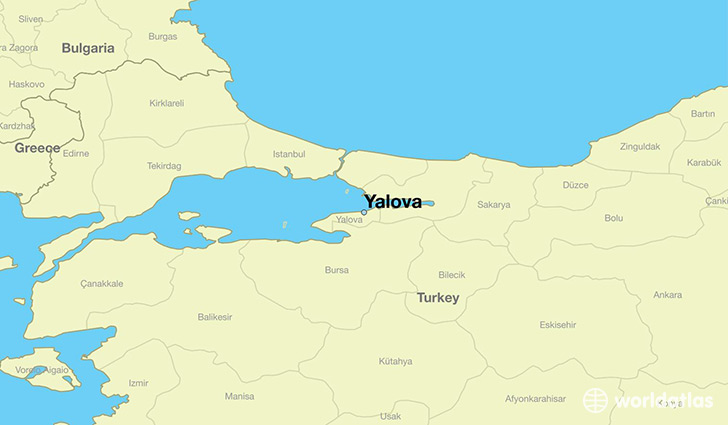 map showing the location of Yalova