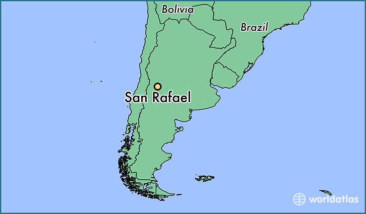 map showing the location of San Rafael