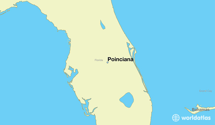 map showing the location of Poinciana